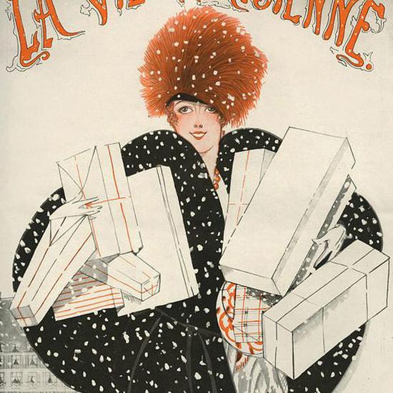 La Vie Parisienne 1921 Le Jour De L An Zyg Brunner crop | Best of 1920s Ad and Cover Art