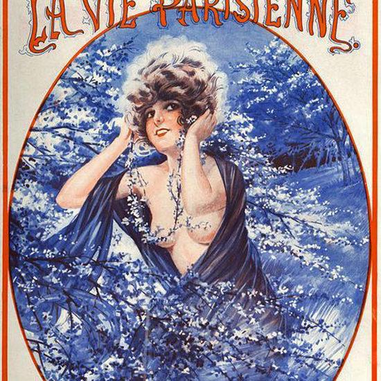 La Vie Parisienne 1921 Le Sourire Du Printemps Maurice Milliere crop | Best of 1920s Ad and Cover Art