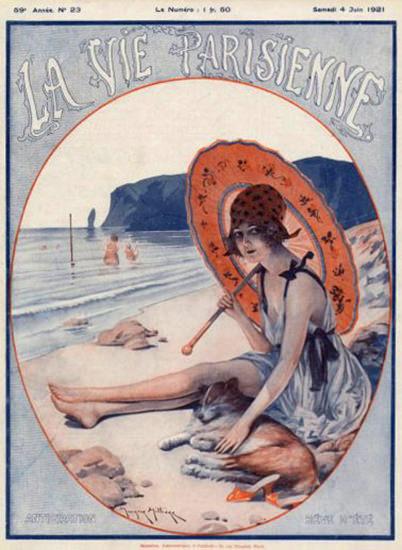 La Vie Parisienne 1921 On The Beach Reve D Ete | Sex Appeal Vintage Ads and Covers 1891-1970