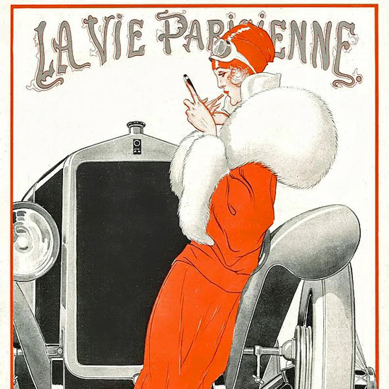 La Vie Parisienne 1922 Au Salon De L Automobile Rene Vincent crop | Best of 1920s Ad and Cover Art