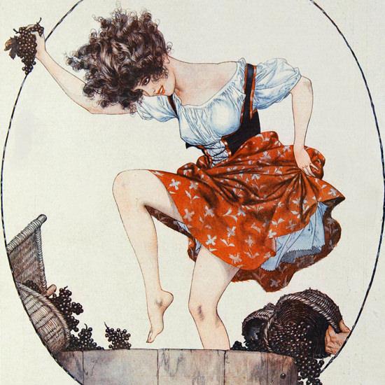 La Vie Parisienne 1922 Bell Bacchante Cheri Herouard crop | Best of 1920s Ad and Cover Art