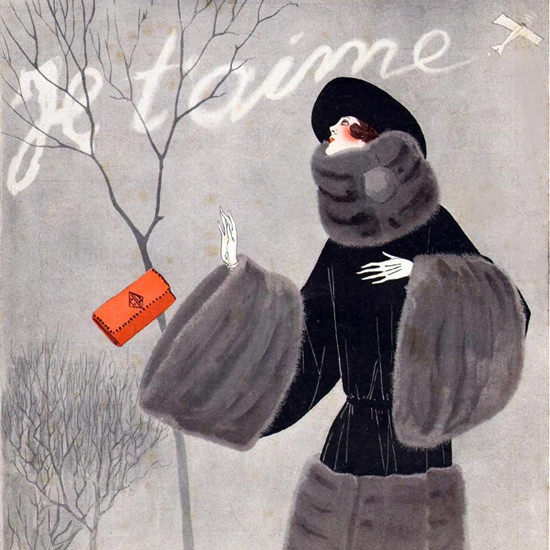 La Vie Parisienne 1922 Je T Aime Fumes Georges Leonnec crop | Best of Vintage Cover Art 1900-1970