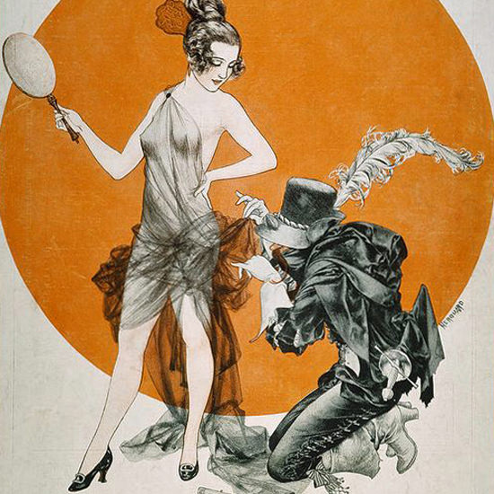 La Vie Parisienne 1922 L Eternelle Mascarade Cheri Herouard crop | Best of Vintage Cover Art 1900-1970