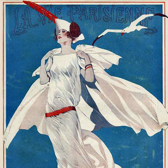 La Vie Parisienne 1922 La Mouette Rieuse Georges Leonnec crop | Best of Vintage Cover Art 1900-1970