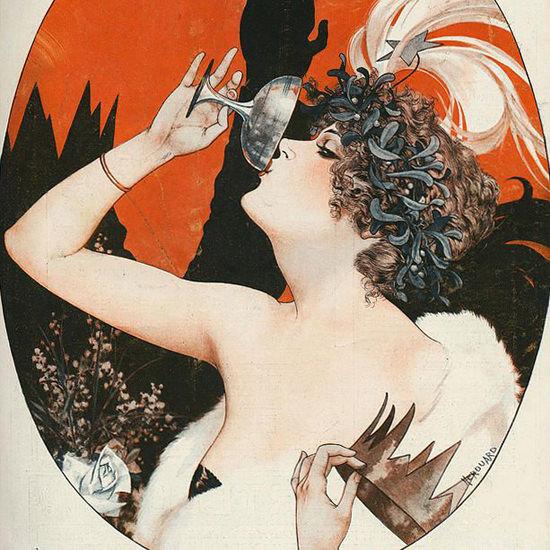 La Vie Parisienne 1922 La Reine De Carnaval Cheri Herouard crop | Best of 1920s Ad and Cover Art