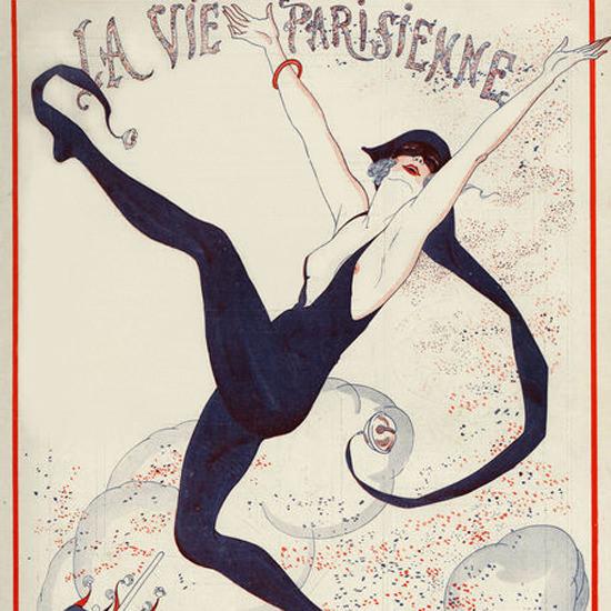 La Vie Parisienne 1922 Les Confetti La Folie Ciel Georges Leonnec crop | Best of 1920s Ad and Cover Art
