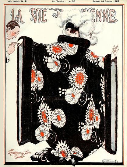 La Vie Parisienne 1922 Manteau Sex Appeal | Sex Appeal Vintage Ads and Covers 1891-1970