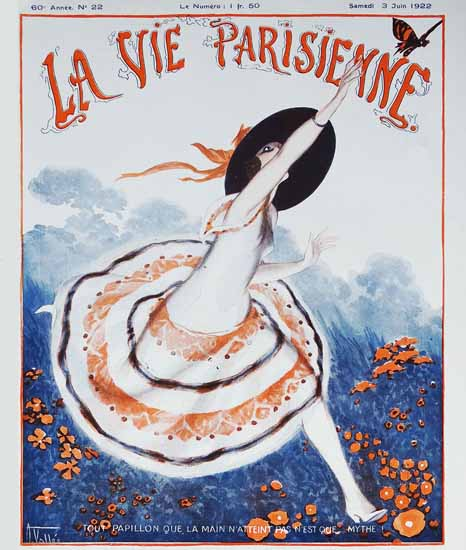 La Vie Parisienne 1922 Papillon Sex Appeal | Sex Appeal Vintage Ads and Covers 1891-1970
