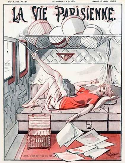 La Vie Parisienne 1922 Partir Sex Appeal | Sex Appeal Vintage Ads and Covers 1891-1970