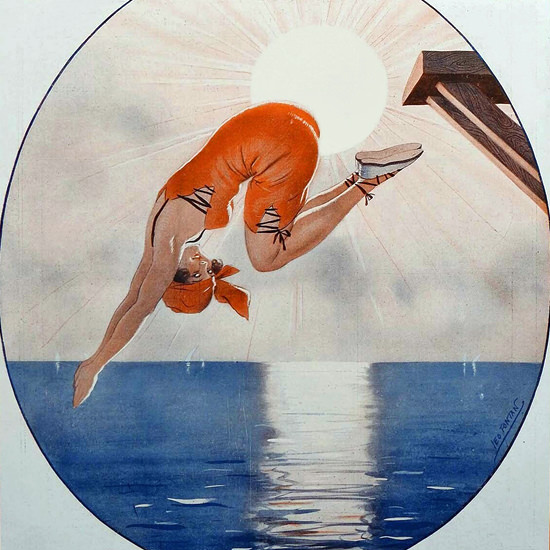 La Vie Parisienne 1922 Une Eclipse Leo Fontan crop | Best of 1920s Ad and Cover Art