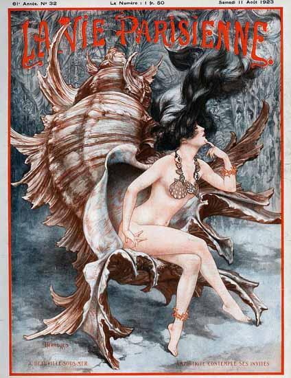 La Vie Parisienne 1923 A Deauville-Sous-Mer Sex Appeal | Sex Appeal Vintage Ads and Covers 1891-1970