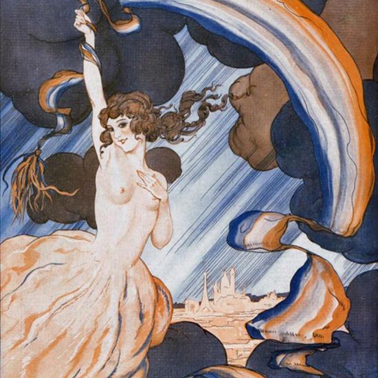 La Vie Parisienne 1923 L Arc En Ciel Leo Fontan crop | Best of 1920s Ad and Cover Art
