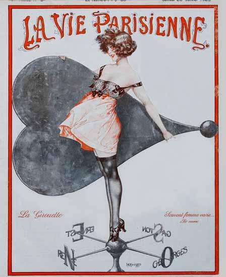 La Vie Parisienne 1923 La Girouette Sex Appeal   Sex Appeal Vintage Ads and Covers 1891-1970