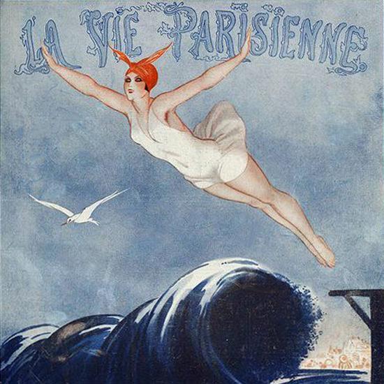 La Vie Parisienne 1923 La Mouette ValdEs crop | Best of 1920s Ad and Cover Art