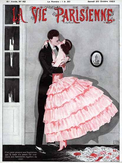 La Vie Parisienne 1923 Le Baiser Sex Appeal   Sex Appeal Vintage Ads and Covers 1891-1970