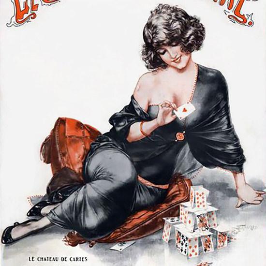 La Vie Parisienne 1923 Le Chateau De Cartes Cheri Herouard crop | Best of Vintage Cover Art 1900-1970