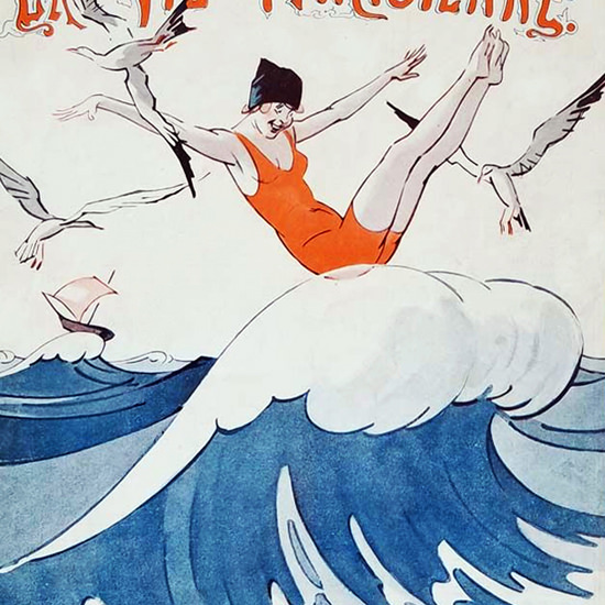 La Vie Parisienne 1923 Legere Rene Prejelan crop | Best of Vintage Cover Art 1900-1970