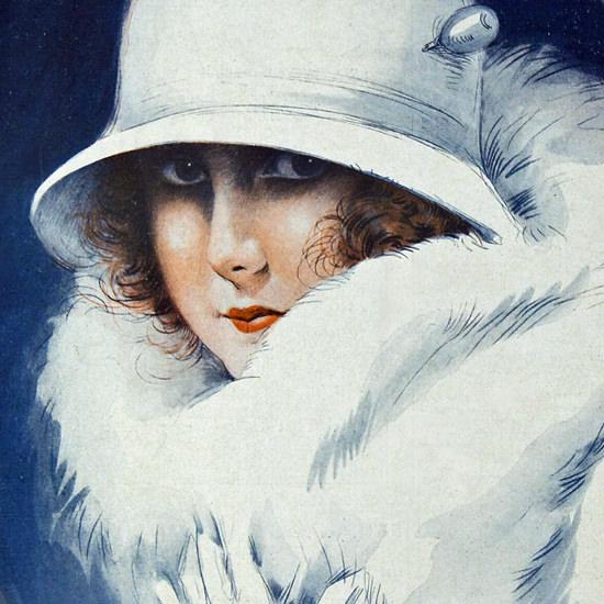 La Vie Parisienne 1923 Premiers Frissons Maurice Milliere crop | Best of 1920s Ad and Cover Art