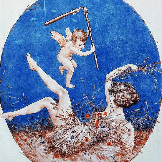 La Vie Parisienne 1923 Que L Amour Est Un Fleau Cheri Herouard crop | Best of Vintage Cover Art 1900-1970