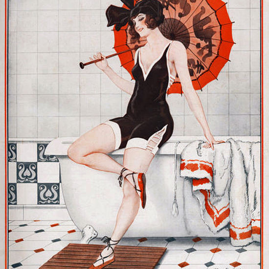 La Vie Parisienne 1923 Repetition En Costume Leo Fontan crop | Best of 1920s Ad and Cover Art