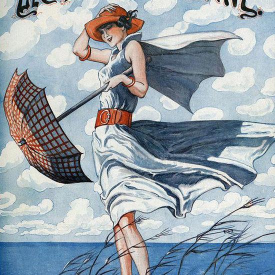La Vie Parisienne 1923 Un Femme A La Mer Georges Pavis crop | Best of Vintage Cover Art 1900-1970