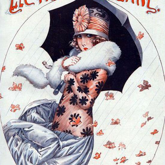La Vie Parisienne 1923 Voici L Automne Maurice Milliere crop | Best of Vintage Cover Art 1900-1970