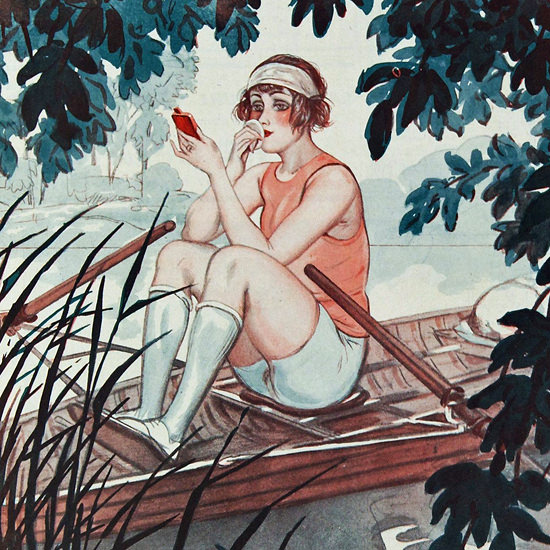 La Vie Parisienne 1924 Avant L Abordage Georges Pavis crop | Best of 1920s Ad and Cover Art
