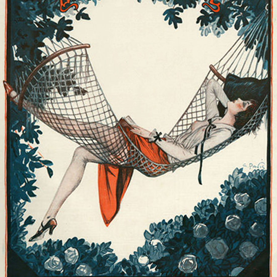 La Vie Parisienne 1924 Dans Le Hamac crop | Best of 1920s Ad and Cover Art