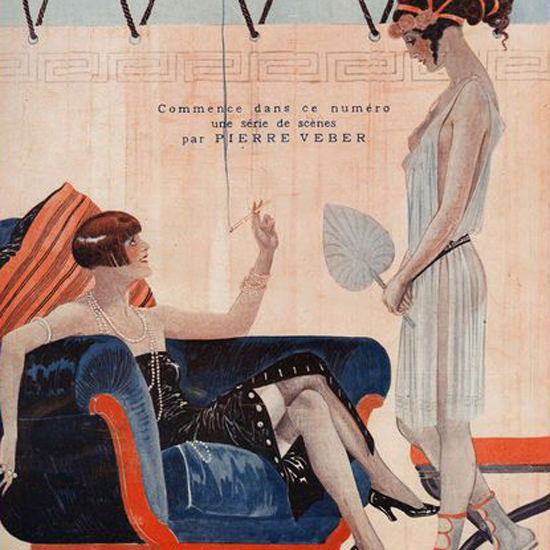 La Vie Parisienne 1924 Dialogues Des Courtisanes Georges Leonnec crop | Best of Vintage Cover Art 1900-1970