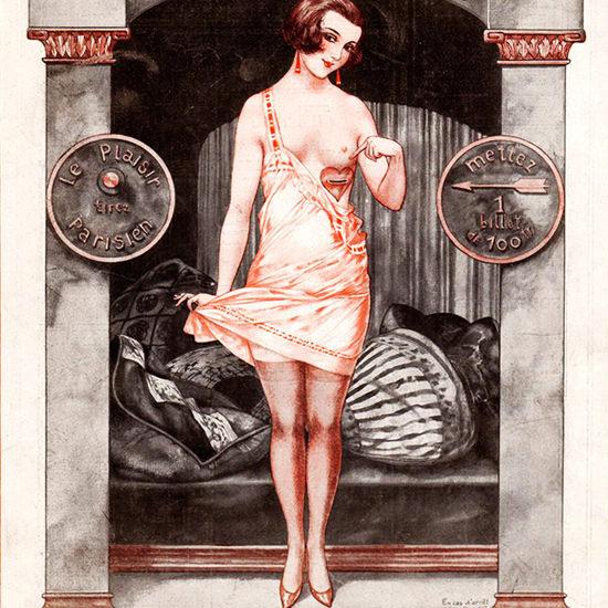 La Vie Parisienne 1924 Distributeur Automatique Cheri Herouard crop | Best of 1920s Ad and Cover Art