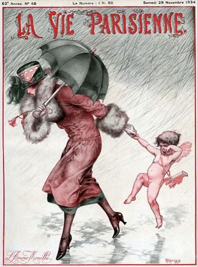 La Vie Parisienne 1924 L Amour Mouille Sex Appeal   Sex Appeal Vintage Ads and Covers 1891-1970