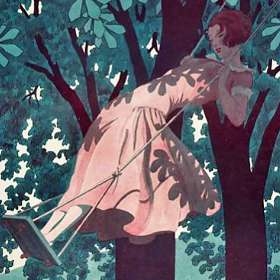 La Vie Parisienne 1924 L Escarpolette Pierre Brissaud crop | Best of 1920s Ad and Cover Art