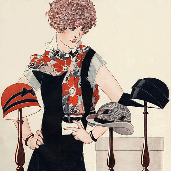 La Vie Parisienne 1924 La Difficulte Du Choix Rene Vincent crop | Best of 1920s Ad and Cover Art