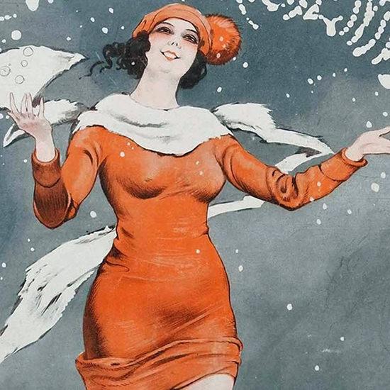 La Vie Parisienne 1924 La Neige Leo Fontan crop B | Best of 1920s Ad and Cover Art