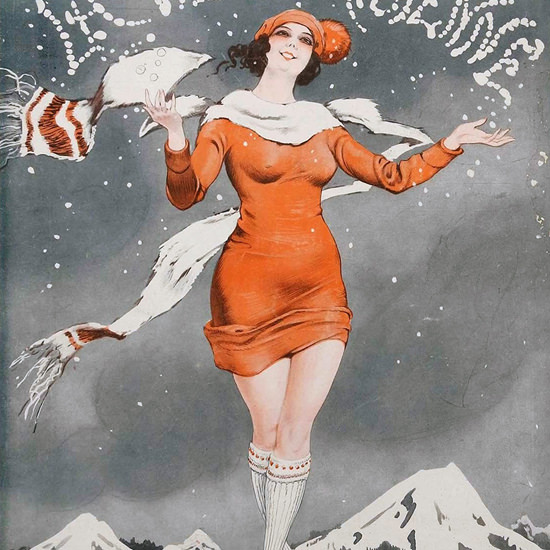 La Vie Parisienne 1924 La Neige Leo Fontan crop | Best of 1920s Ad and Cover Art