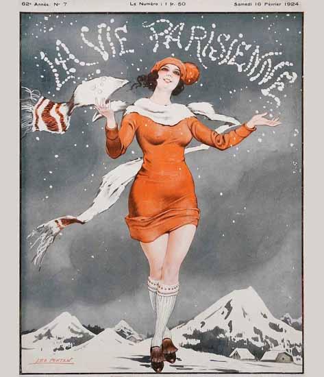 La Vie Parisienne 1924 La Neige Sex Appeal   Sex Appeal Vintage Ads and Covers 1891-1970