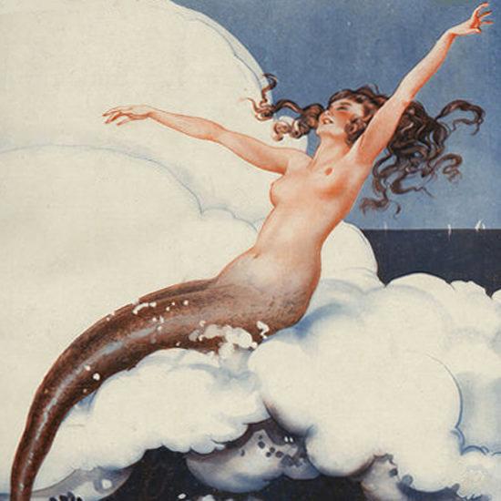 La Vie Parisienne 1924 La Sirene Leo Fontan crop | Best of Vintage Cover Art 1900-1970