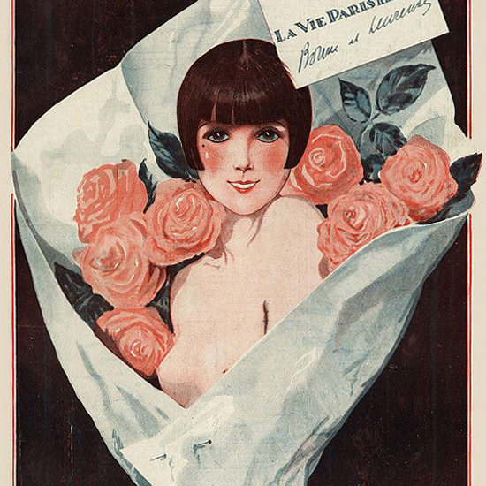 La Vie Parisienne 1924 Le Bouquet Georges Leonnec crop | Best of 1920s Ad and Cover Art