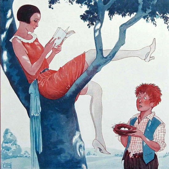 La Vie Parisienne 1924 Le Denicheur Georges Leonnec crop | Best of 1920s Ad and Cover Art