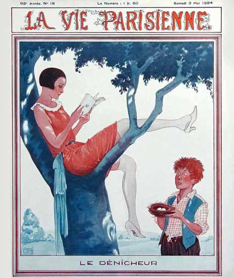 La Vie Parisienne 1924 Le Denicheur Sex Appeal | Sex Appeal Vintage Ads and Covers 1891-1970