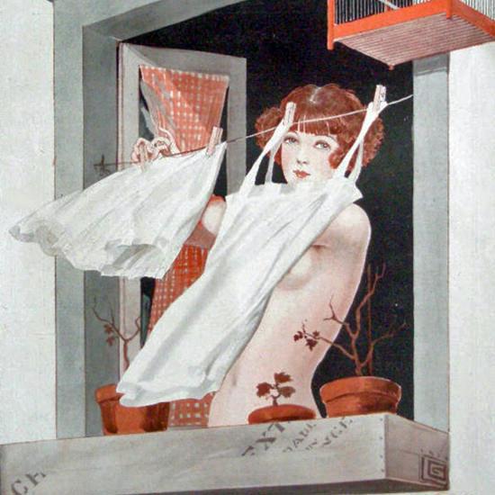 La Vie Parisienne 1924 Le Dimanche Matin Georges Leonnec crop | Best of Vintage Cover Art 1900-1970