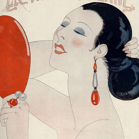 La Vie Parisienne 1924 Le Miroir George Barbier crop | Best of Vintage Cover Art 1900-1970