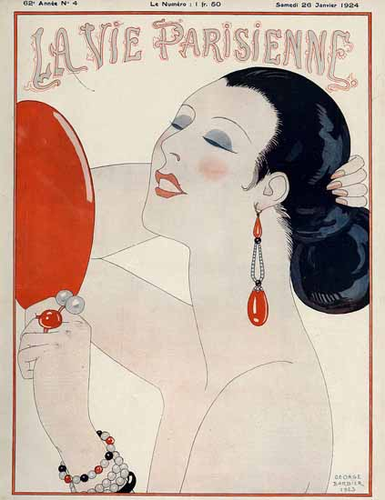 La Vie Parisienne 1924 Le Miroir George Barbier | La Vie Parisienne Erotic Magazine Covers 1910-1939