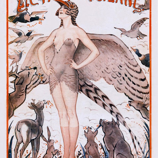 La Vie Parisienne 1924 Sa Majeste La Faisene ValdEs crop | Best of Vintage Cover Art 1900-1970