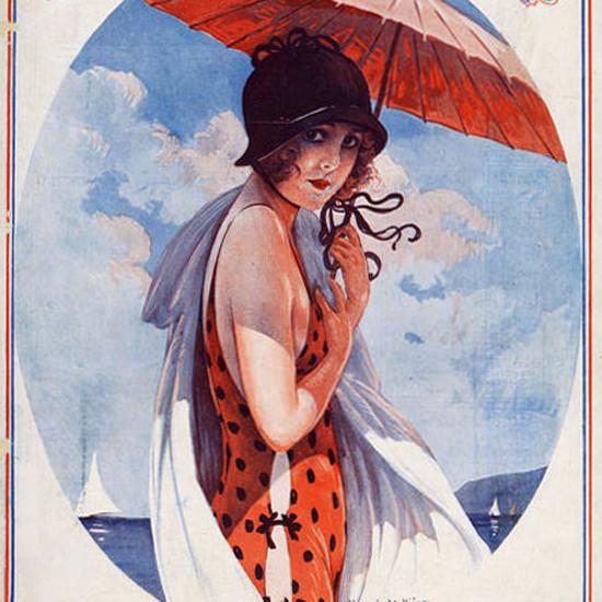 La Vie Parisienne 1924 Sur La Plage Maurice Milliere crop | Best of 1920s Ad and Cover Art