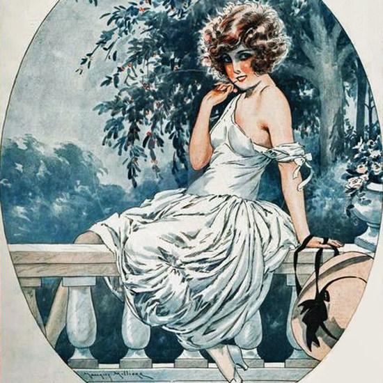 La Vie Parisienne 1924 Une Jolie Bouche Maurice Milliere crop | Best of Vintage Cover Art 1900-1970