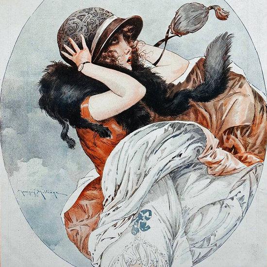 La Vie Parisienne 1924 Voici Le Mois Du Mars Maurice Milliere crop | Best of Vintage Cover Art 1900-1970