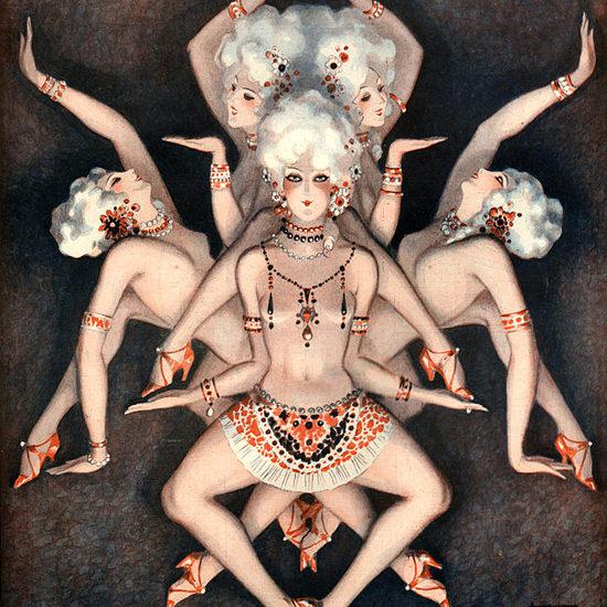 La Vie Parisienne 1925 Assez De Revue Negre Armand Vallee crop | Best of Vintage Cover Art 1900-1970