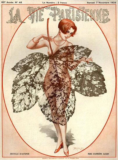 La Vie Parisienne 1925 Autumn Leaf Nude | Sex Appeal Vintage Ads and Covers 1891-1970