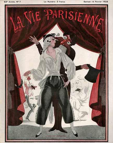 La Vie Parisienne 1925 Bas Les Masques Sex Appeal | Sex Appeal Vintage Ads and Covers 1891-1970
